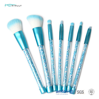 Glitter Synthetic Hair 6pcs Plastic Makeup Brushes