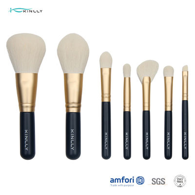 7PCS Navy Blue Paper Box Mini Makeup Brush Set